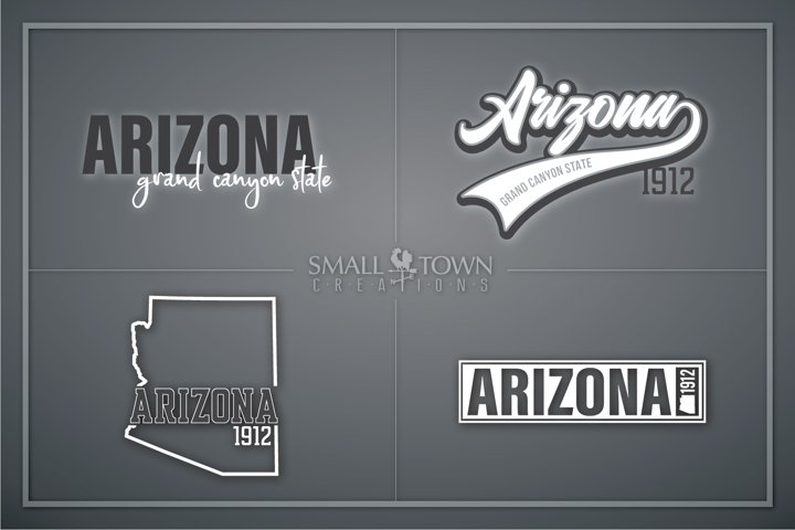 Arizona, Grand Canyon State- slogan, PRINT, CUT & DESIGN