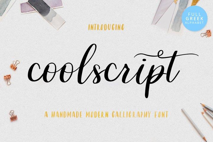 Coolscript font