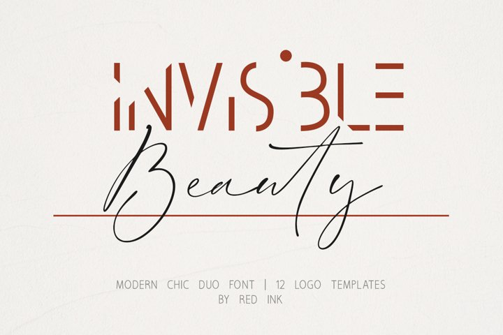 Invisible Beauty. Chic Duo Font.