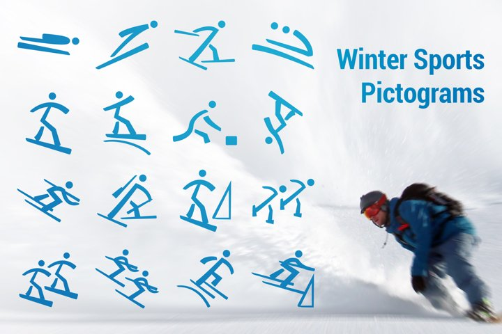 Winter Sports Pictograms Font