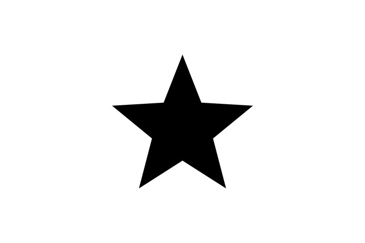 Black star vector icon. Star black symbol