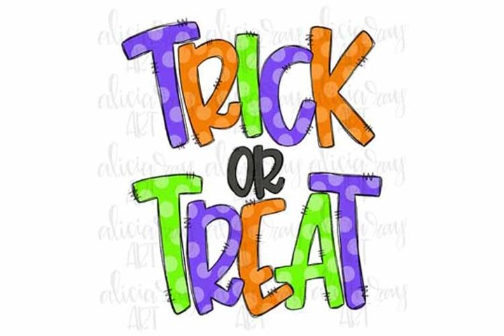 Trick or Treat Doodle Letters