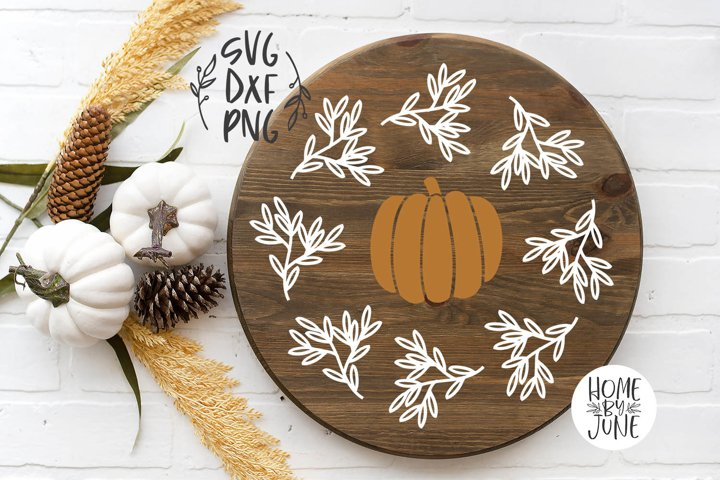Pumpkin Frame Round/Circle Fall Sign Decor Graphic