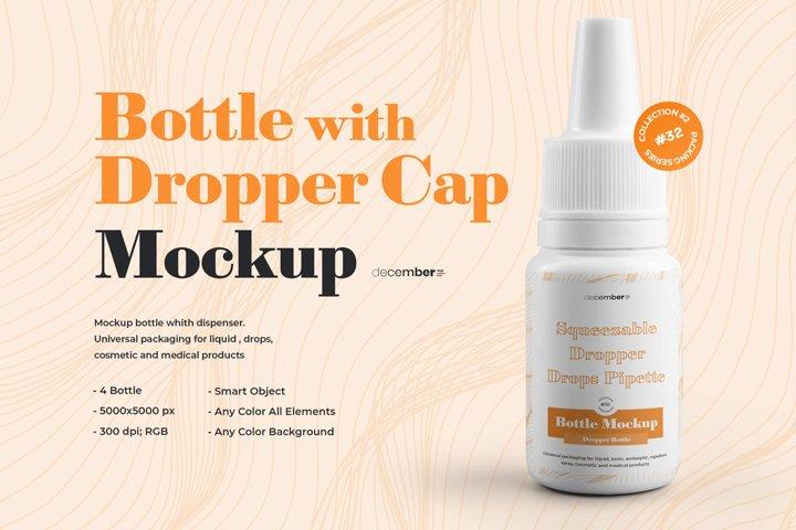 4 Mockups Dropper Bottles ear or eye drops