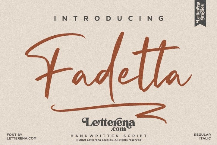 Fadetta - Handwritten Script Font