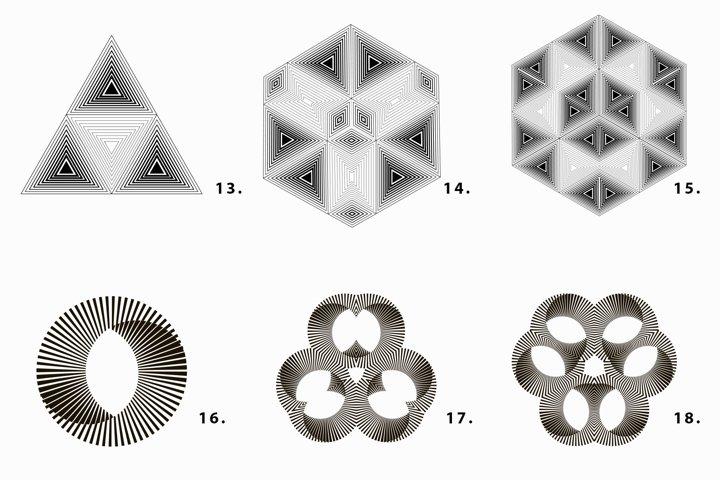 Illusion linear geometric shapes example 7