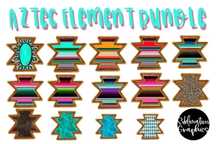 Hand Drawn Aztec Element Bundle
