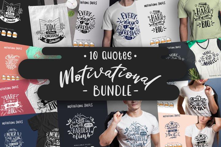 10 Motivational Bundle SVG | Lettering Quotes