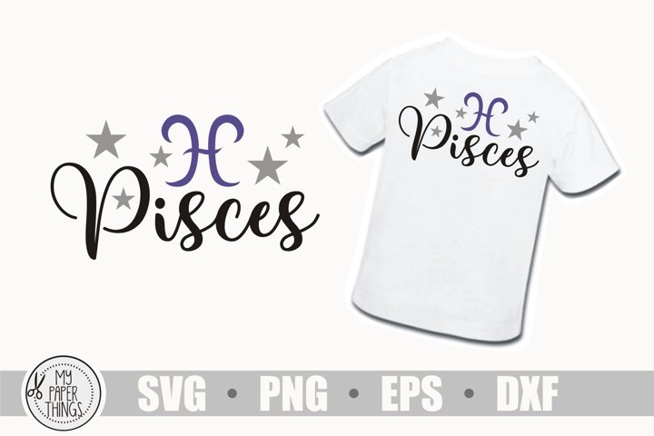 Pisces svg, February, March birthday svg, Zodiac sign svg