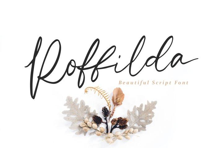Roffilda - Script Fonts