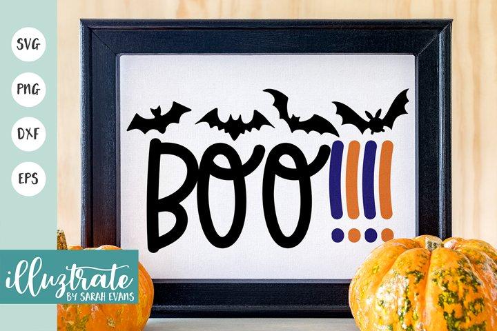 Boo SVG Cut File | Halloween SVG