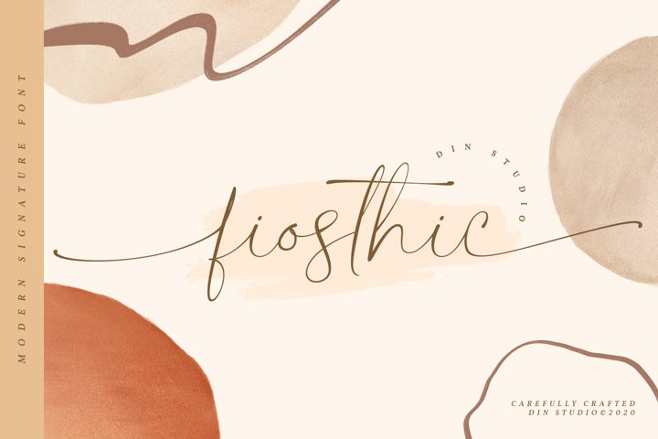 Fiosthic-Modern Signature Font