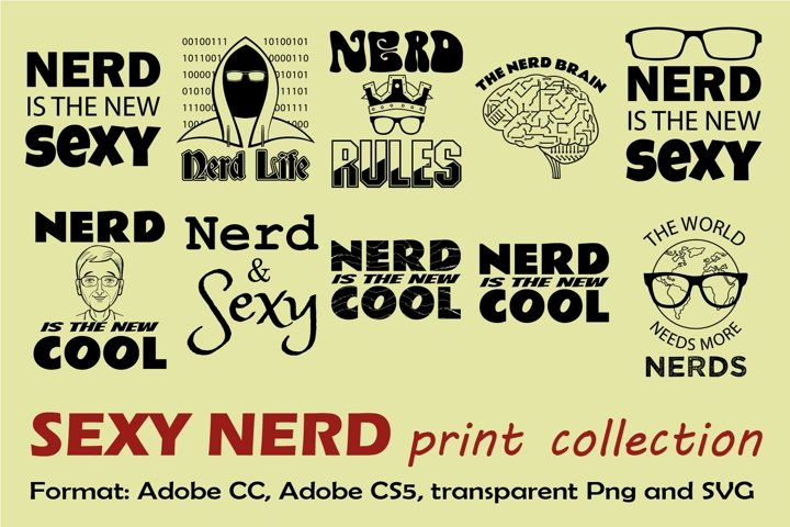 Sexy Nerd Print Collection