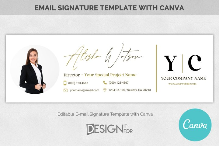 Email Signature Template logo , Real Estate email signature