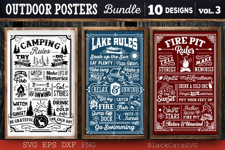 Outdoor Posters Bundle SVG Camping Bundle SVG
