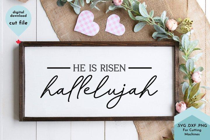 He Is Risen, Hallelujah Easter Cut File example