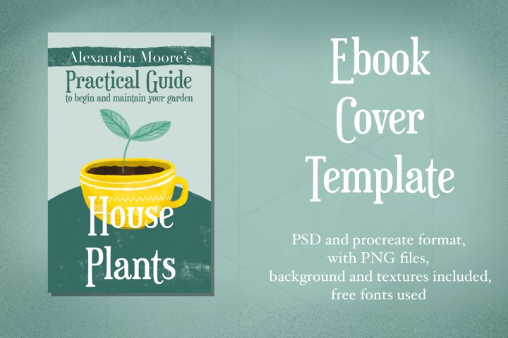 House Plants Ebook cover template