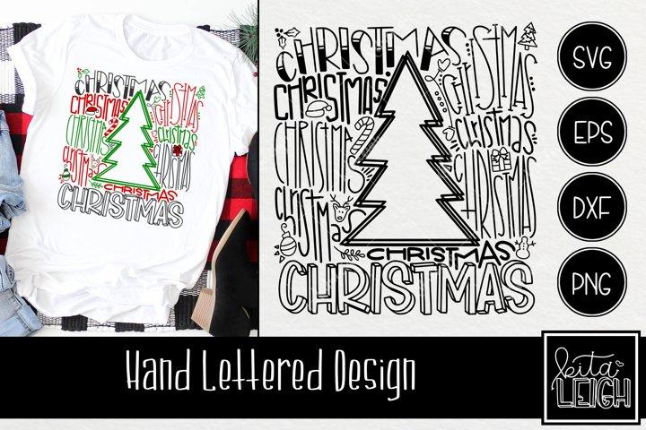 Christmas Tree Typography