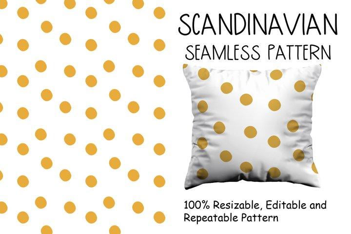 Scandinavian style pattern with yellow dots