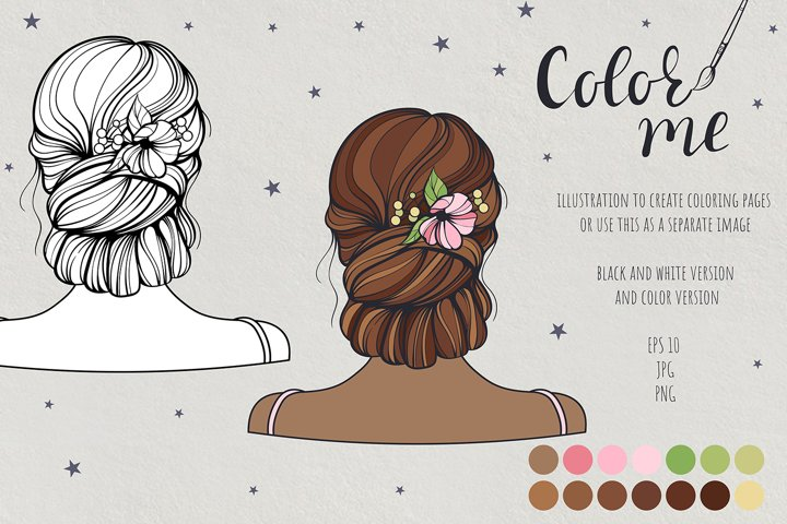 Color me. Womens hairstyle #2