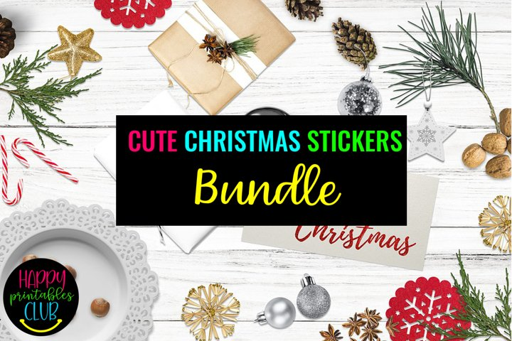 Cute Christmas Stickers Bundle- Christmas Planner Stickers