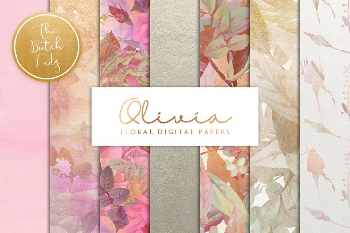 Floral Backgrounds & Paper Designs - Olivia