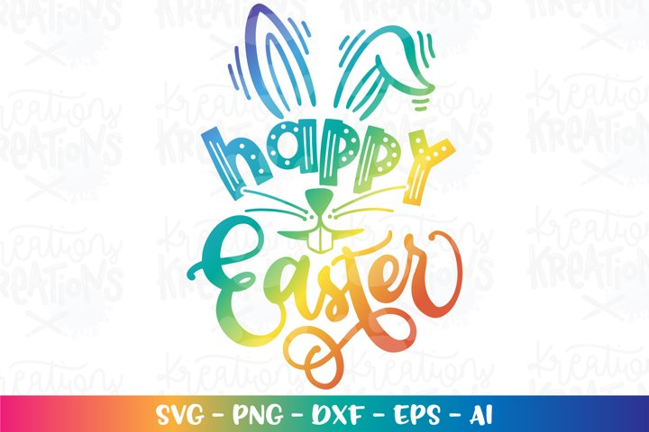 Easter svg Happy Easter svg Bunny ears cute