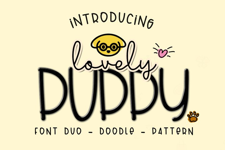 Lovely Puppy - Font duo with bonus - Free Font of The Week Font