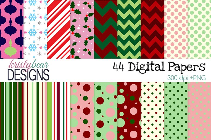 Christmas Digital Papers - Christmas Patterns