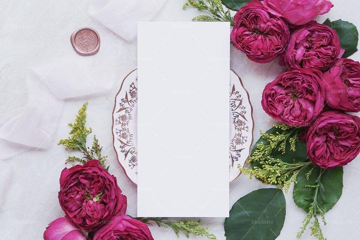 Wedding Stationery Mockup - Menu - Rococo Collection