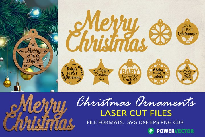 Christmas Ornaments, Bauble SVG Cut file for Crafters