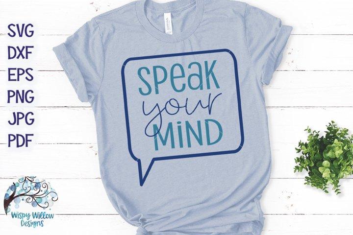 Speak Your Mind SVG