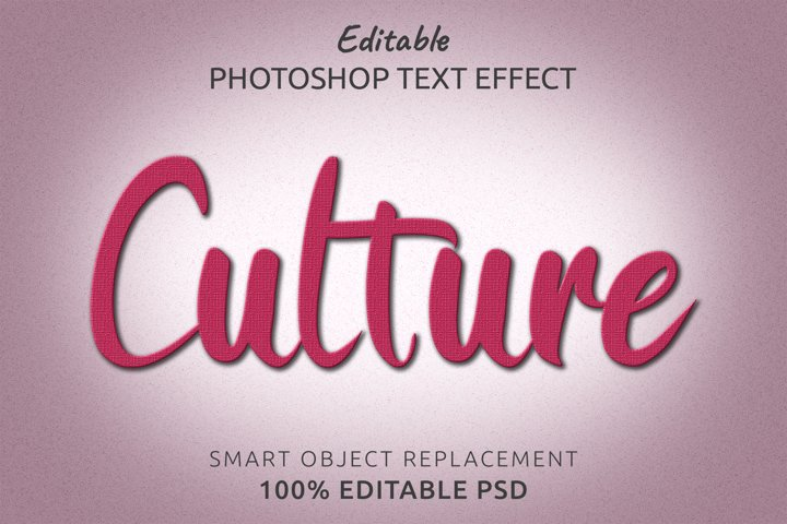 Culture Editable Photoshop Text Style Effect