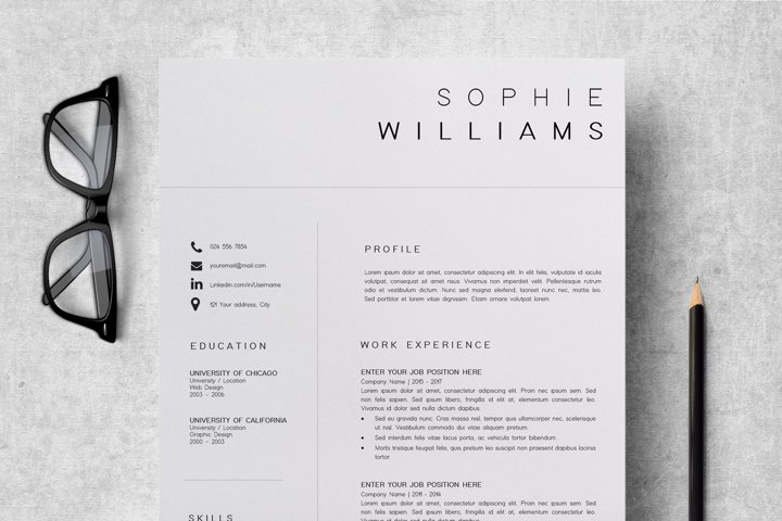 Resume Template | CV Template - Sophie Williams