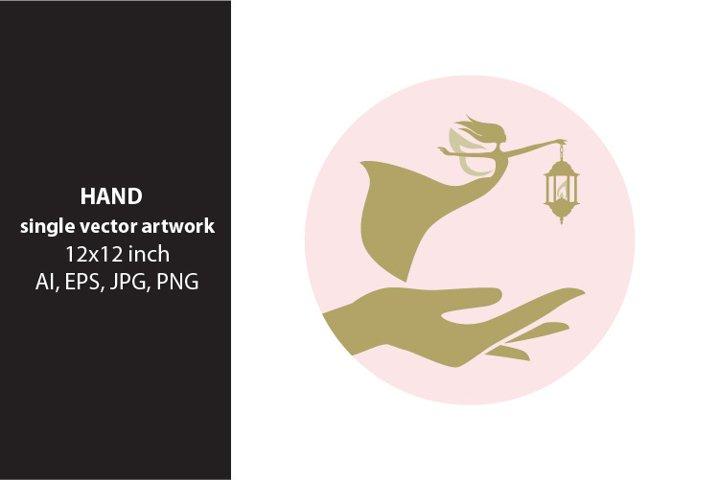 hand - single vector artwork