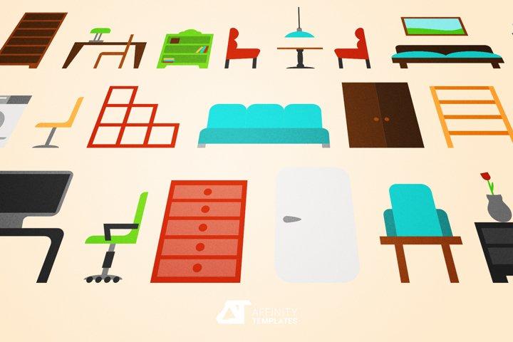 Furniture Vector Set Affinity Designer