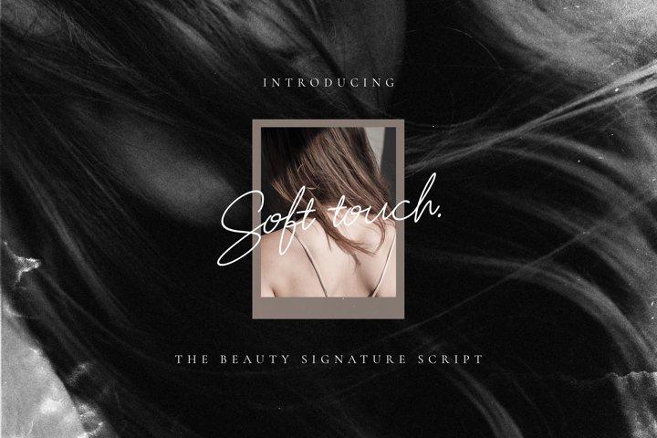 Soft Touch Signature Script Font