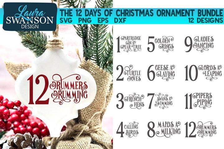 12 Days of Christmas Ornament Bundle | Christmas SVG Bundle