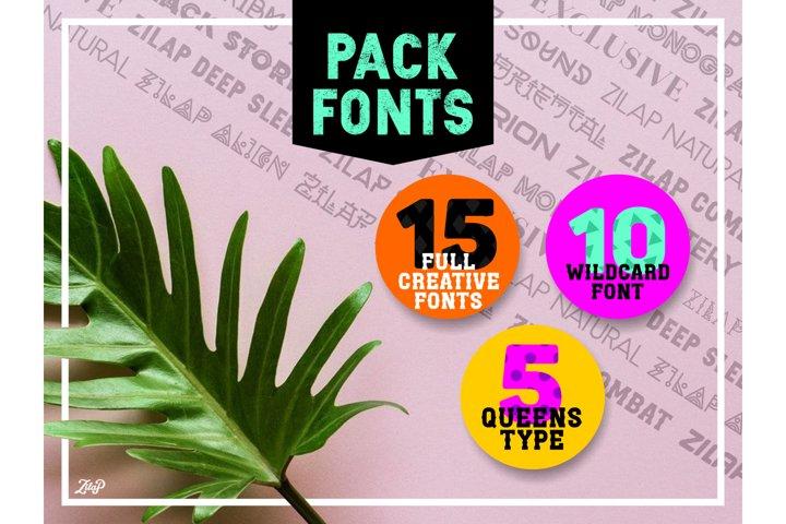 Zilap full creative 15 fontpack