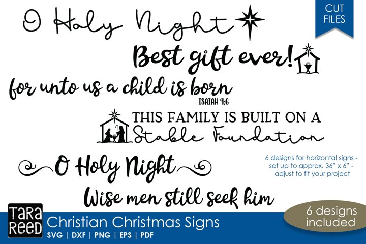 Christian Christmas Signs - SVG & Cut Files for Crafters