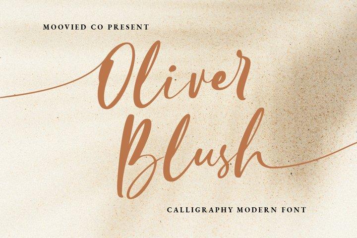 Oliver Blush Calligraphy Modern Font
