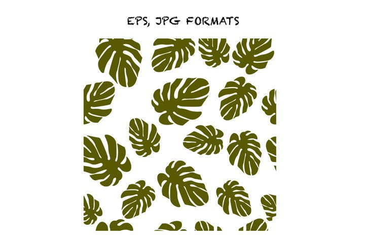 Tropical leaves of monstera pattern green floral