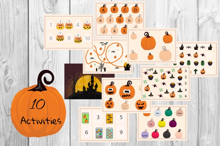 Halloween worksheet for kids, Kids activity, Busy book