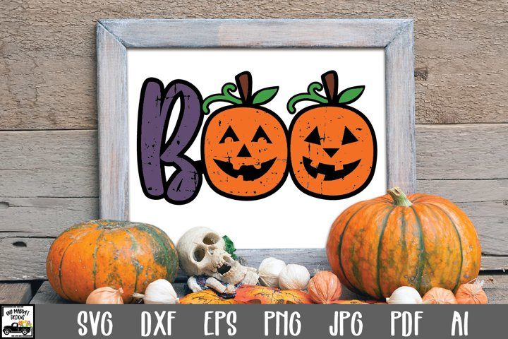 Boo SVG Cut File | Halloween SVG File