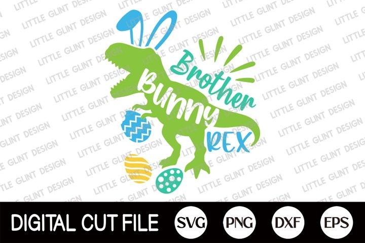 Easter Bunny Dinosaur Svg, Brother Bunny Rex Svg, Kids Shirt