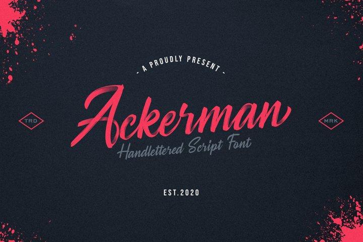 Ackerman Handlettered Script Font