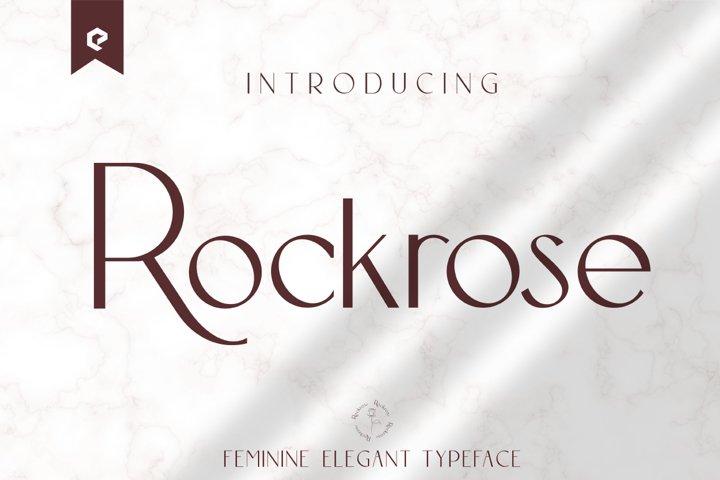 Rockrose Elegant Stylist Typeface