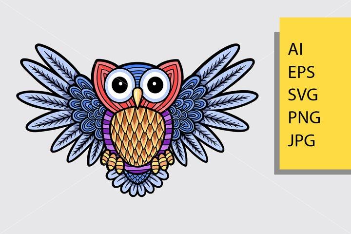 Owl pattern decoration