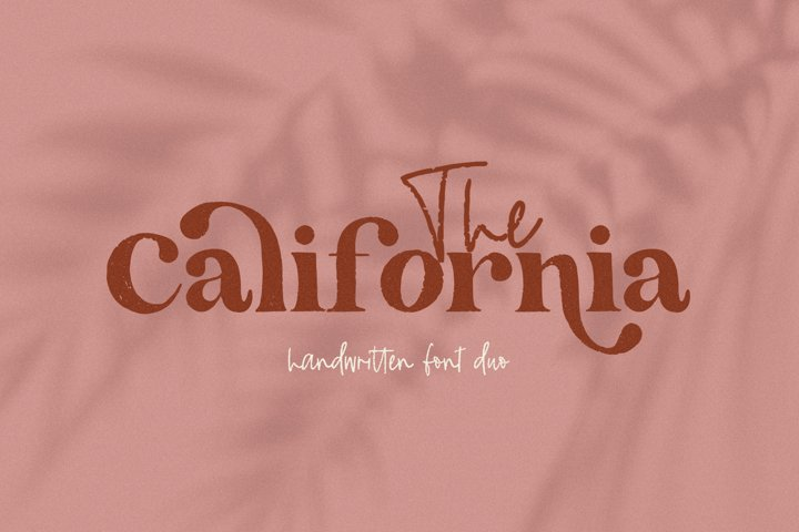 The California - A Serif/Script Handwritten Font Duo