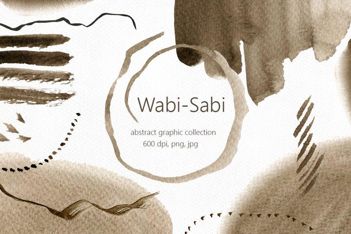 Wabi-Sabi. Abstract graphic collection